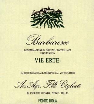 Barbaresco Vie Erte